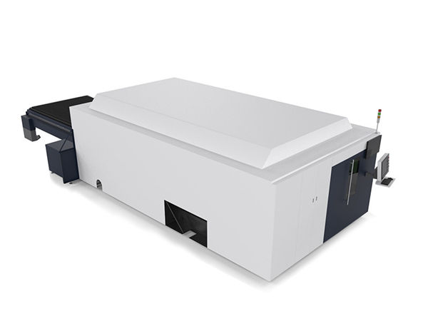 metal sheet / tubes industrial laser cutting machine dual motor high end cnc system