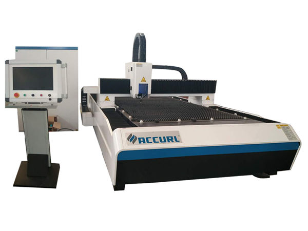 accurate metal fiber laser cutting machine open type for stainless steel