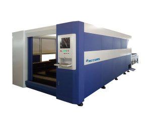 380v / 50hz laser steel cutting machine , smart fiber optic laser cutter