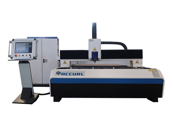500w precision fiber laser cutting machine clean cut surface with water cooling system