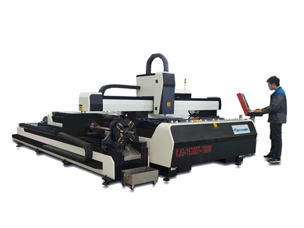 mini high power laser cutting machine , fiber laser cutting equipment with exchange table