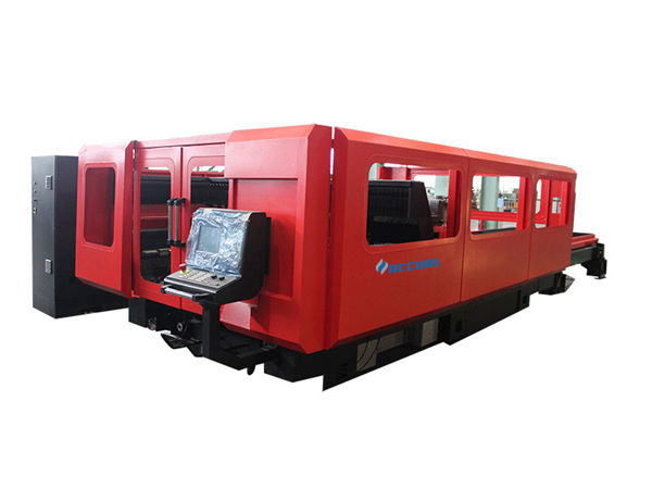 fully enclosed laser tube cutting equipment , small cnc laser tube cutter 380v
