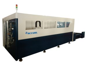 cnc control fiber laser pipe cutting machine , silver fiber optic laser cutter