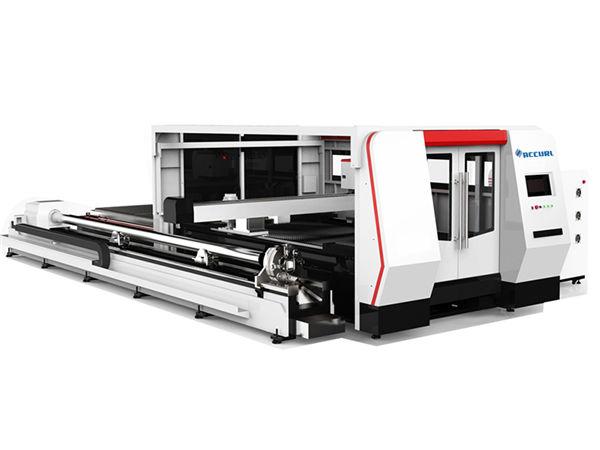 cnc fiber laser tube cutting machine 1000w with cypcut controlling system