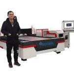 linear guide drive cnc laser pipe cutting machine for copper / titanium