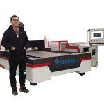 linear guide drive cnc laser pipe cutting machine for copper / titanium