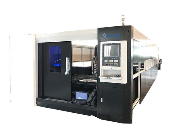 3000w fiber cnc laser metal cutting machine gantry double driving structure