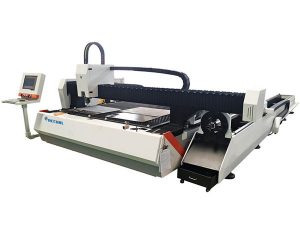 tube metal fiber laser cutting machine 1500w adjustable speed with automatic feeding